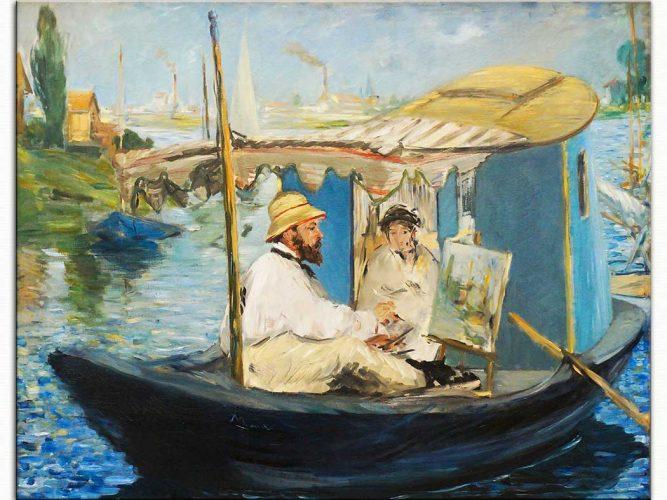 Edouard Manet Monet Yüzen Atelyesinde