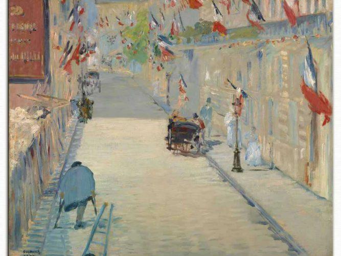 Edouard Manet Mosnier Bulvarında Bayraklar