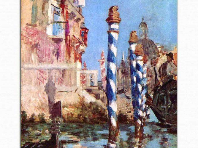 Edouard Manet Venedik'te Grand Kanal