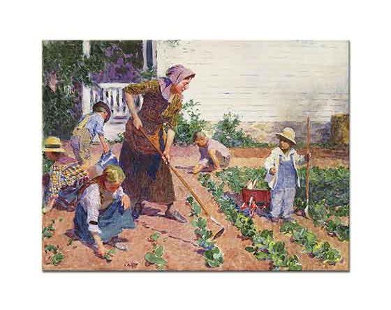 Edward Henry Potthast Bahçede