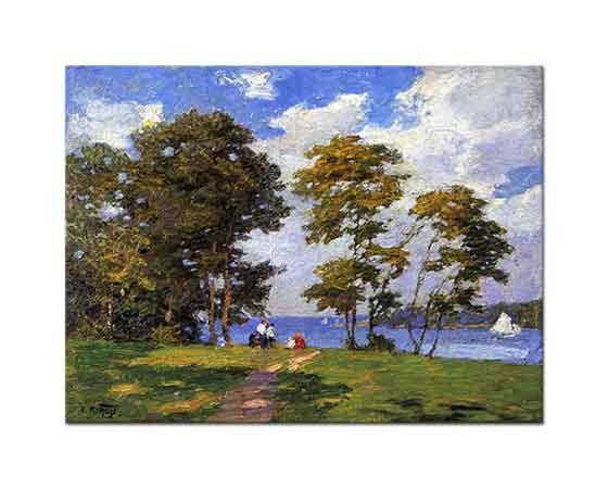 Edward Henry Potthast Kıyı Manzarası