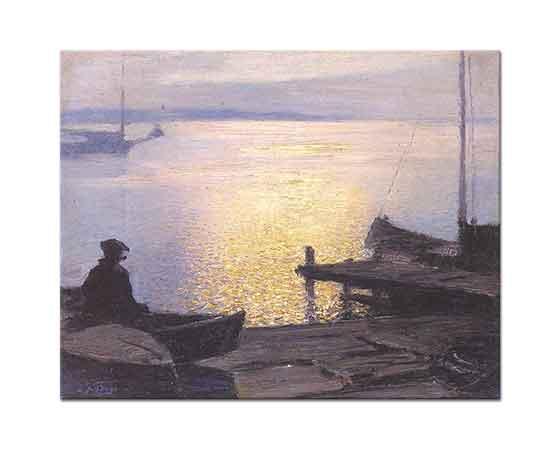 Edward Henry Potthast Nehir Kıyısında Mistisizm