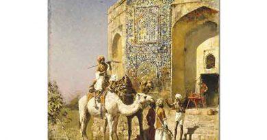 Edwin Lord Weeks Delhi'de Mavi Mozaikli Cami