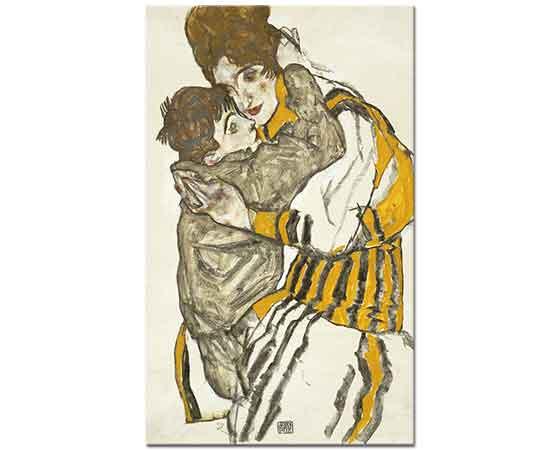 Egon Schiele Sanatçının Eşi ve Küçük Nephev