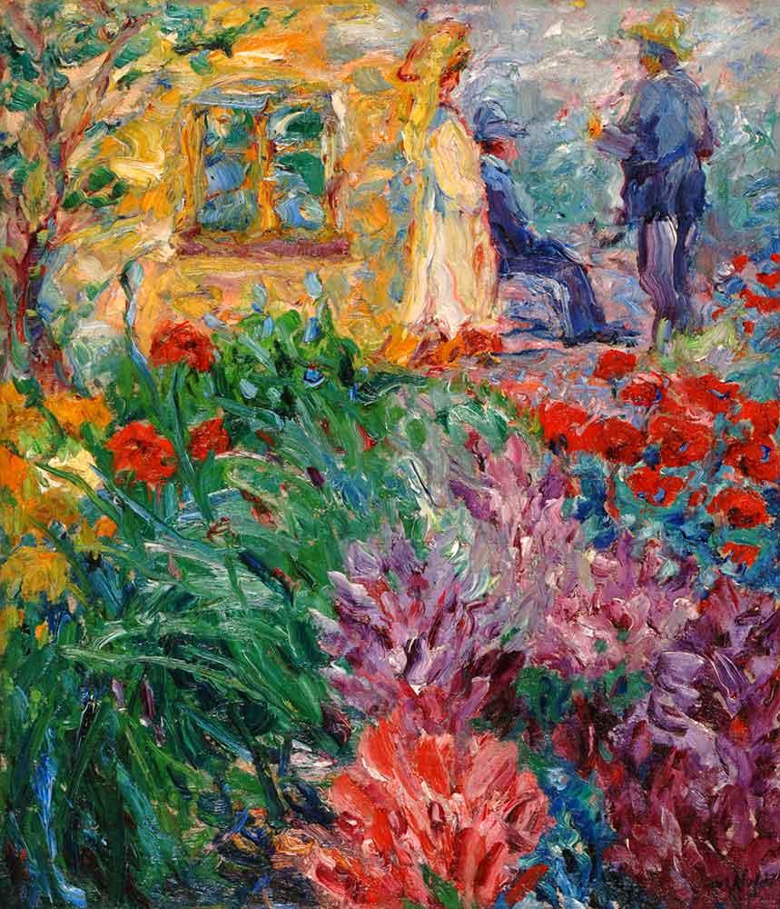 Emil Nolde Bahçede Çiçekler