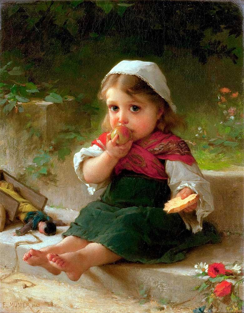 Emile Munier Elmalı Kız