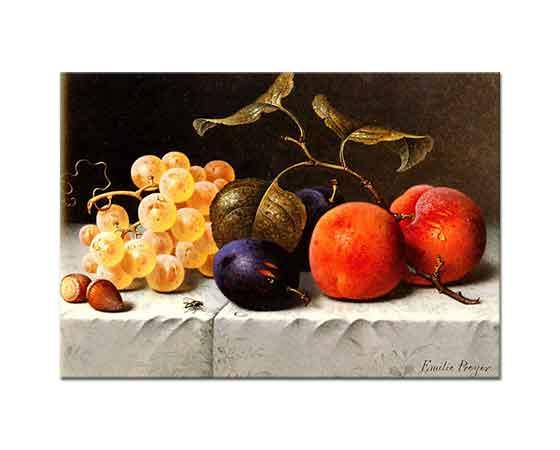 Emilie Preyer Meyve ve Fındıklı Natürmort