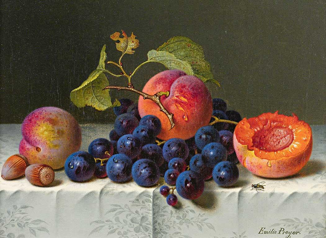 Emilie Preyer Meyveli Natürmort