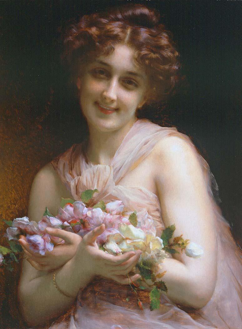 Etienne Adolphe Piot Çiçekler