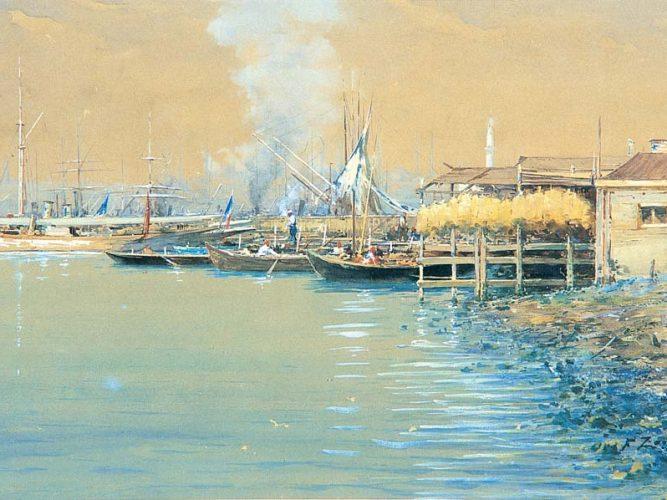 Fausto Zonaro iskelede tekneler