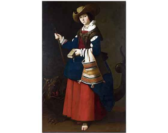 Francisco De Zurbaran Saint Margaret