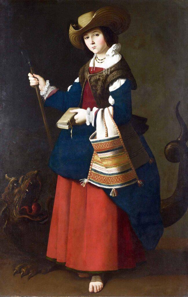 Francisco De Zurbaran Saint Margaret