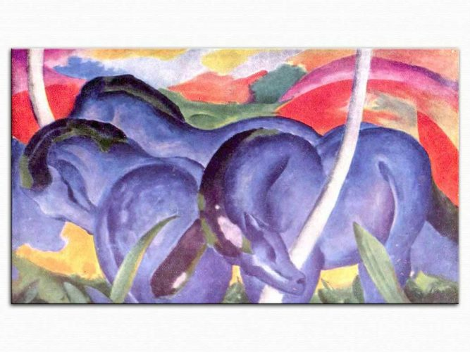 Franz Marc Büyük Mavi Atlar