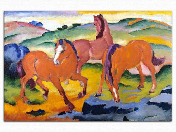 Franz Marc çayırda Atlar 05