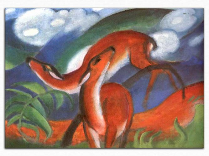 Franz Marc Kırmızı Geyikler 02