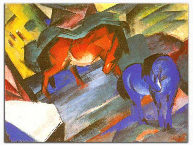 Franz Marc Kırmızı ve Mavi At