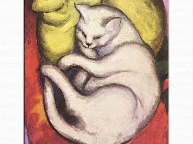 Franz Marc Sarı Yastıkta Kedi