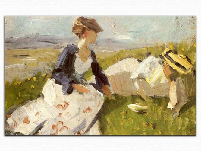 Franz Marc Yaylada iki Bayan