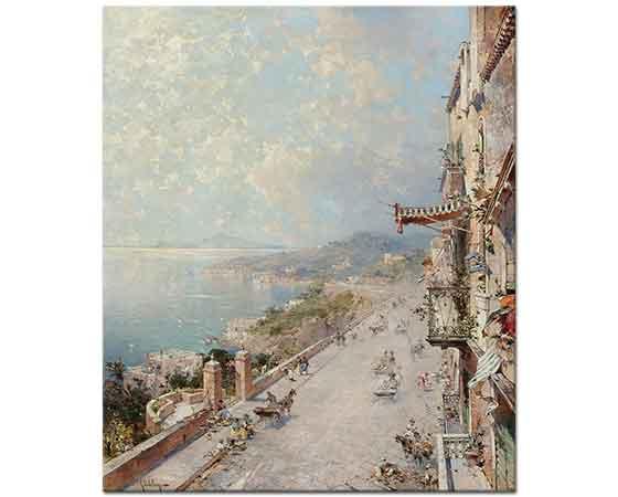 Franz Richard Unterberger Posilipo Napoli Yakınları