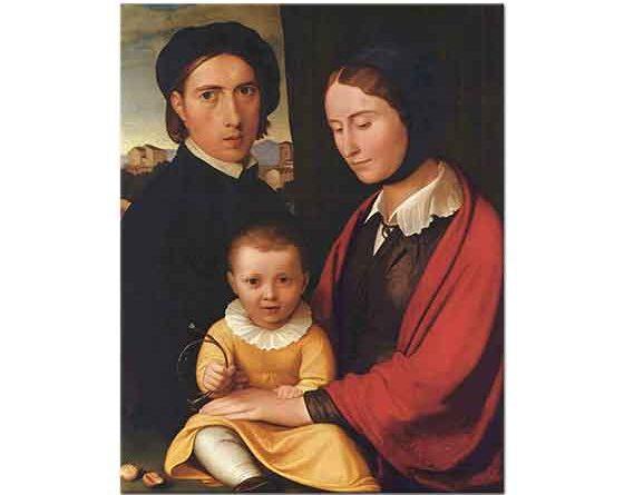 Friedrich Overbeck Sanatçı Karısı ve Oğlu ile
