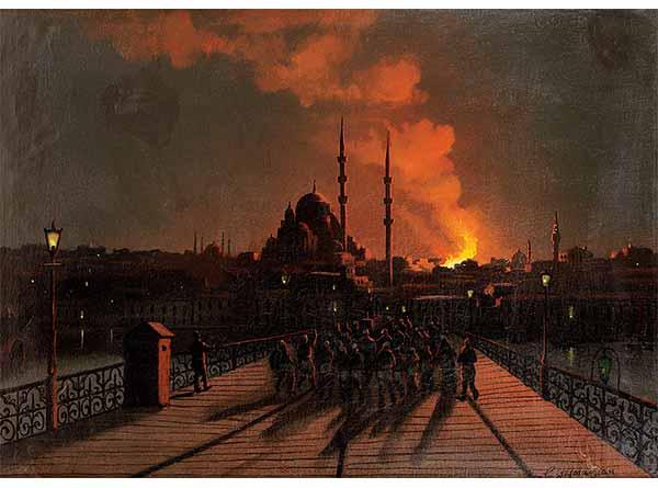 Garabet Yazmacıyan Beyazıt'da Yangın