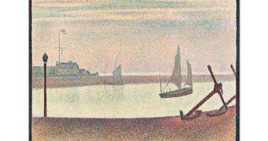 Georges Seurat Akşam Vakti Kanalda Yelkenli
