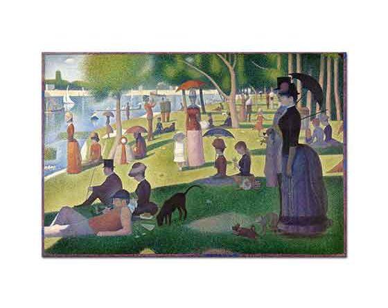 Georges Seurat Büyük Jatte Adasında Akşam Vakti