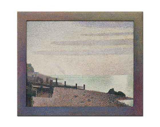 Georges Seurat Deniz Kıyısında Akşam, Honfleur