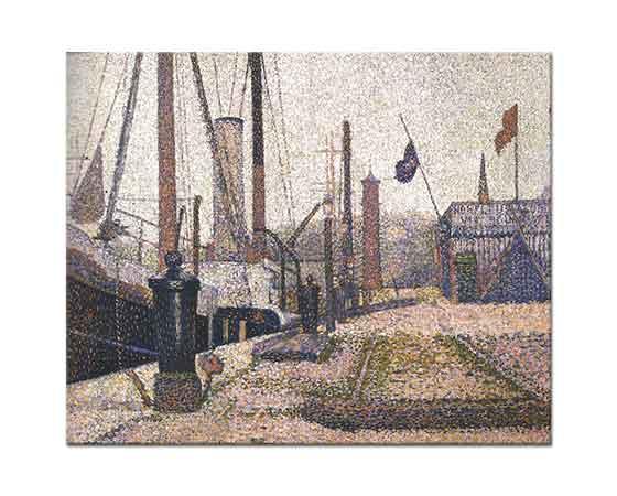 Georges Seurat Maria Honfleur Limanında