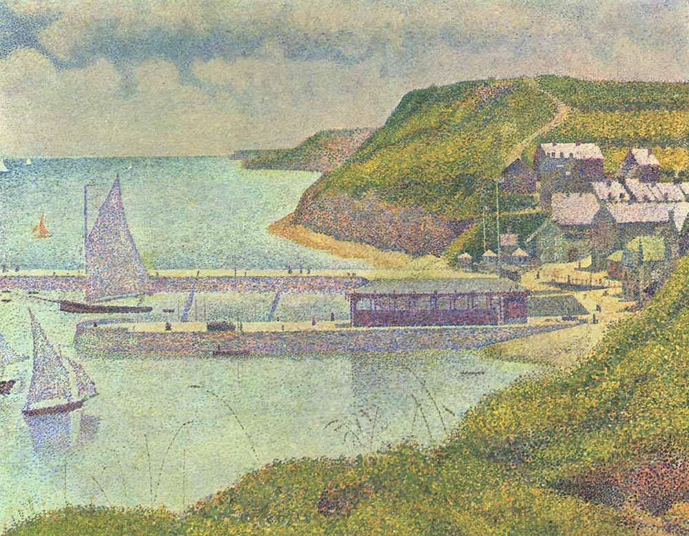 Georges Seurat Rıhtımda Yelkenliler