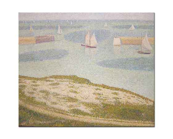 Georges Seurat Sahil Liman Girişi