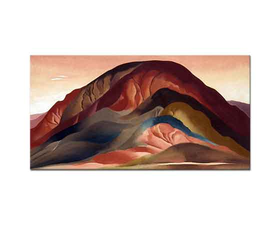 Georgia O'Keeffe Pas Kırmızılı tepeler