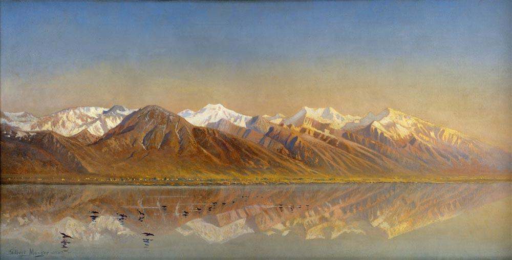 Gilbert Davis Munger Salt Gölü ve Wasatch Dağları
