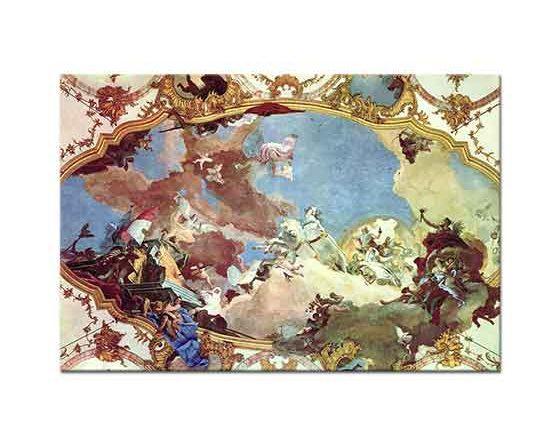 Giovanni Battista Tiepolo Apollon Friedrich'e Rehberlik Ederken
