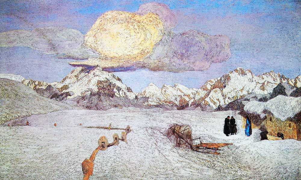 Giovanni Segantini Alpler üçlemesi Geçiş
