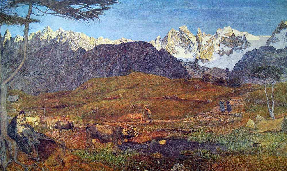 Giovanni Segantini Alpler üçlemesi Mola