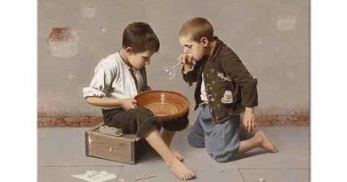 Giulio del Torre Sabun Üfleyen Çocuklar