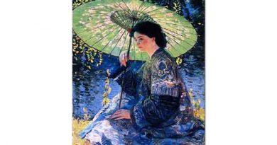 Guy Rose Yeşil Şemsiye