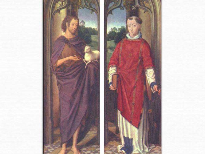 Hans Memling Johannes ve Aziz Laurentius