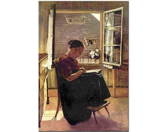 Hans Thoma Sanatçının Annesi Mutfakta