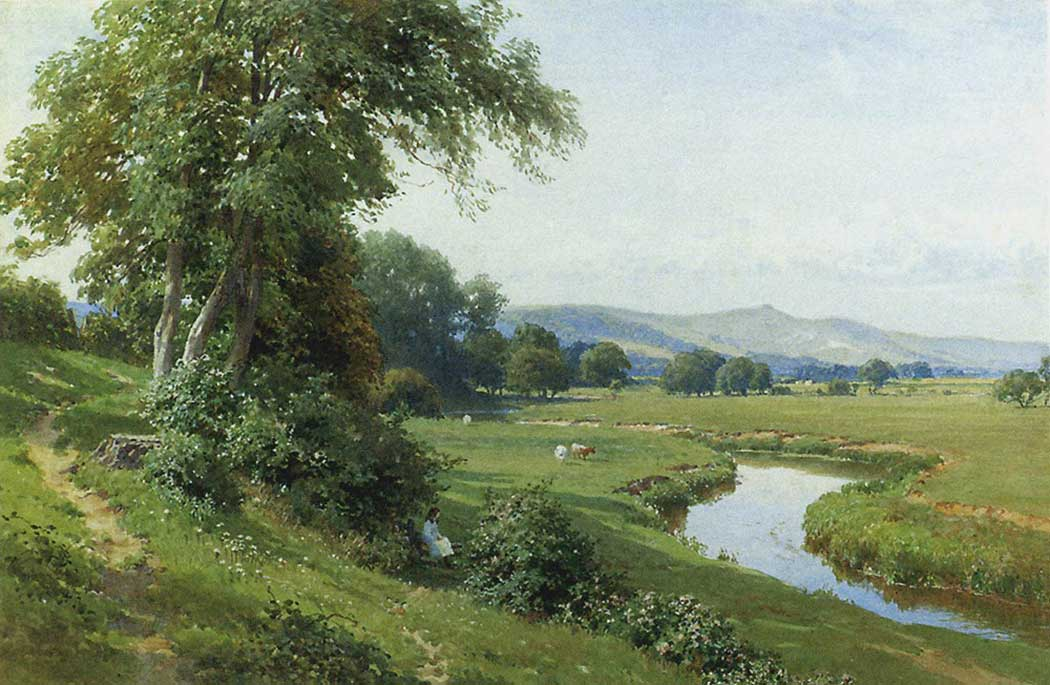 Harry Sutton Palmer Nehir Kıyısında Genç Kız