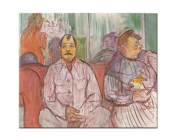 Henri de Toulouse Lautrec Adam Kadın ve Köpek
