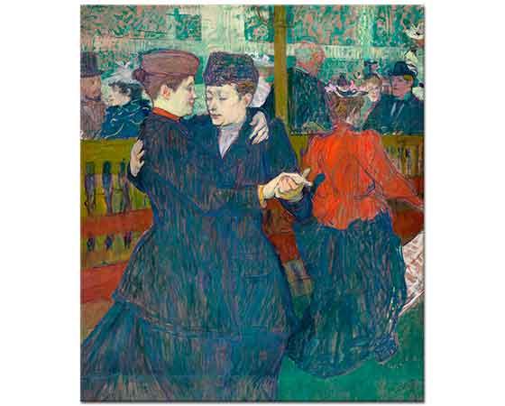 Henri de Toulouse Lautrec Dans Eden iki Kadın