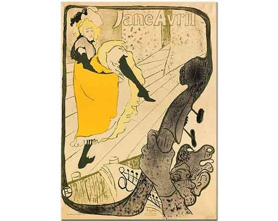 Henri de Toulouse Lautrec Jane Avril Afişi