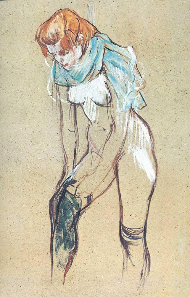 Henri de Toulouse Lautrec Jartiyerini Giyinen Kadın