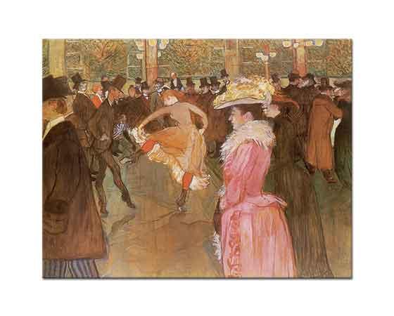 Henri de Toulouse Lautrec Moulin Rouge'da Dans