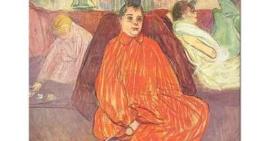 Henri de Toulouse Lautrec Turuncu Elbiseli Kadın
