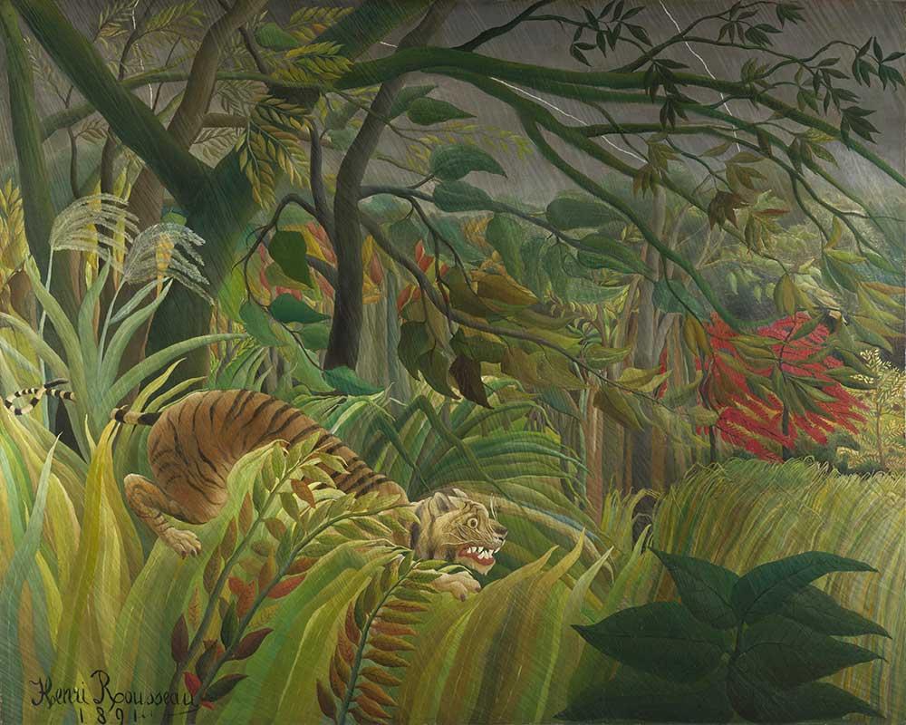 Henri Rousseau Tropik Fırtınada Kaplan