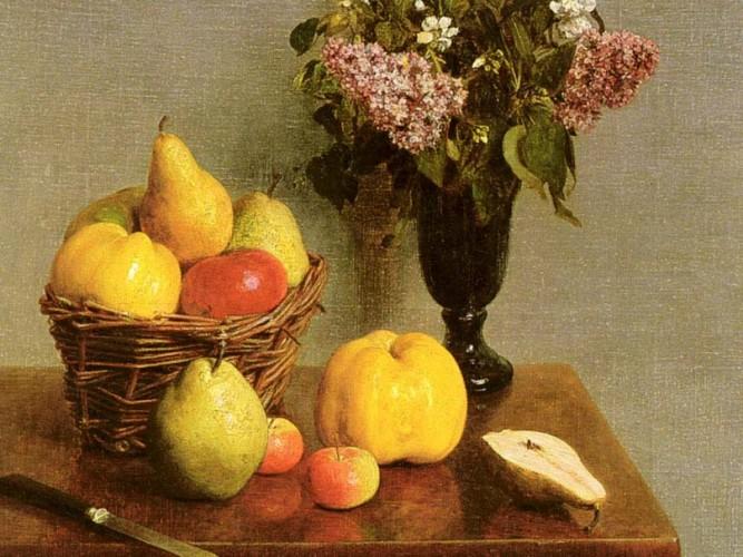 Henri Fantin Latour çiçekler ve meyveler