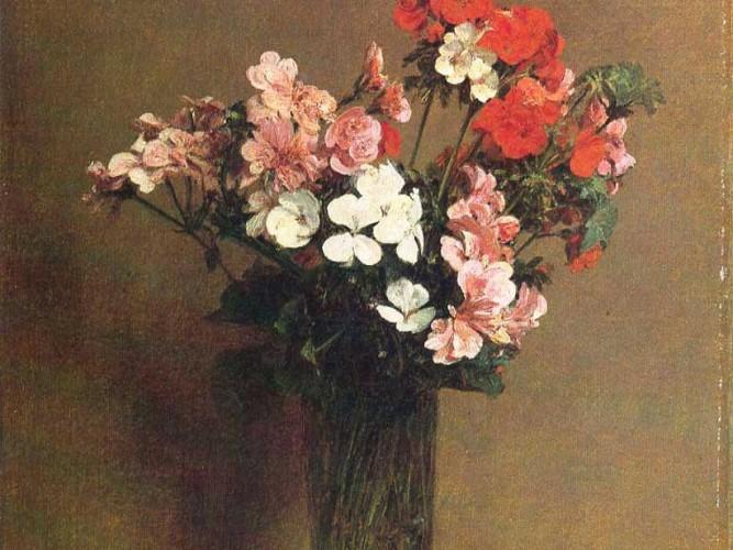 Henri Fantin Latour vazodaki çiçekler
